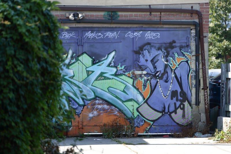 Τοίχος που χρωματίζει το spadaina του Τορόντου του 2016 στοκ εικόνες
