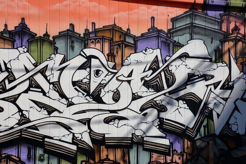 Τοίχος που χρωματίζει το spadaina του Τορόντου του 2016 στοκ φωτογραφίες