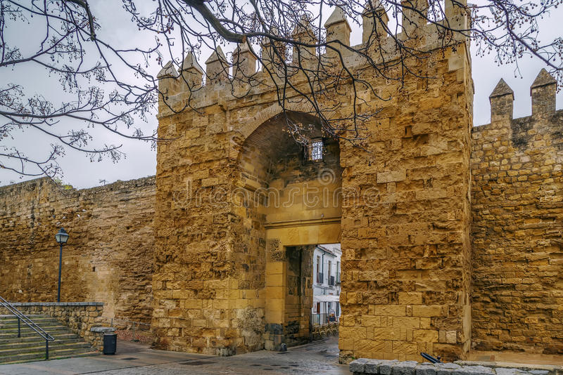 Τοίχος πόλεων της Κόρδοβα, Ισπανία στοκ εικόνα