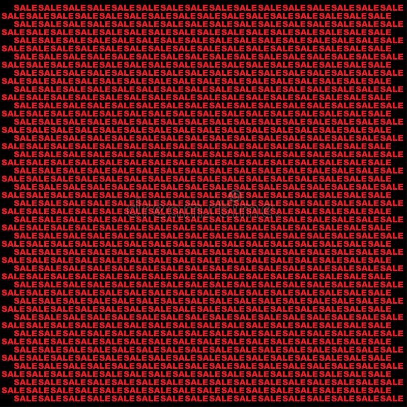 Τοίχος πώλησης που γίνεται από τις μικρές κόκκινες πωλήσεις ελεύθερη απεικόνιση δικαιώματος
