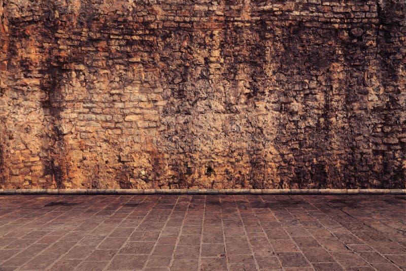 Τοίχος στο καφετί χρώμα στοκ εικόνα