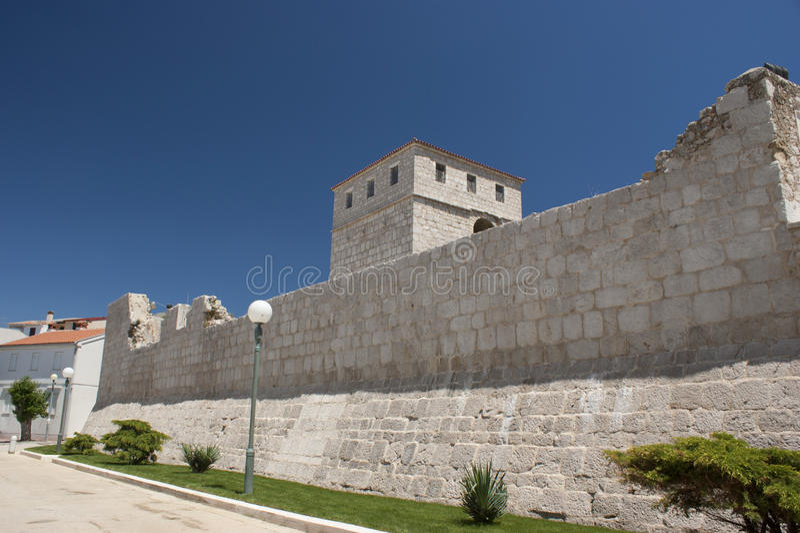 τοίχος της Κροατίας πόλεων pag στοκ φωτογραφίες