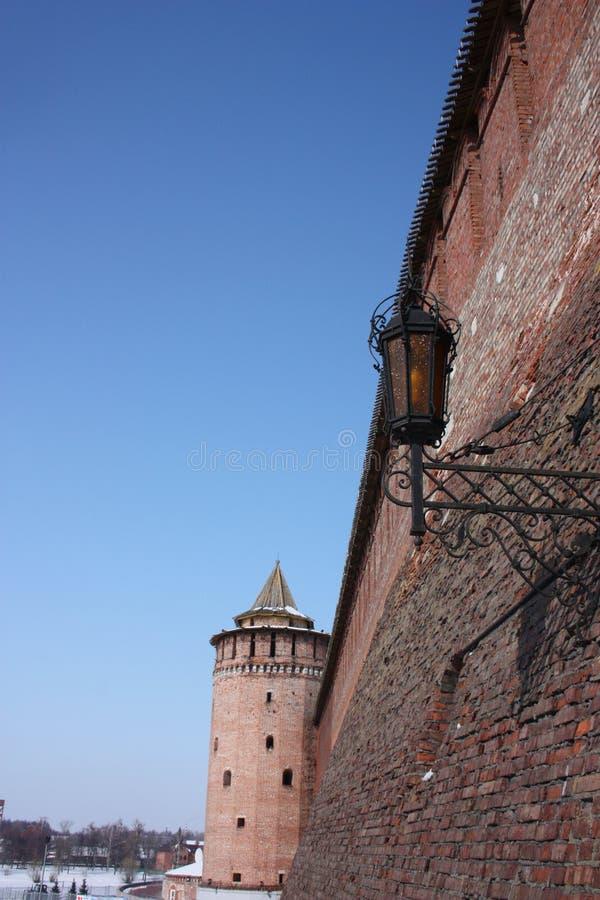 τοίχος της Ρωσίας περιοχών του Κρεμλίνου Μόσχα kolomna στοκ εικόνα με δικαίωμα ελεύθερης χρήσης
