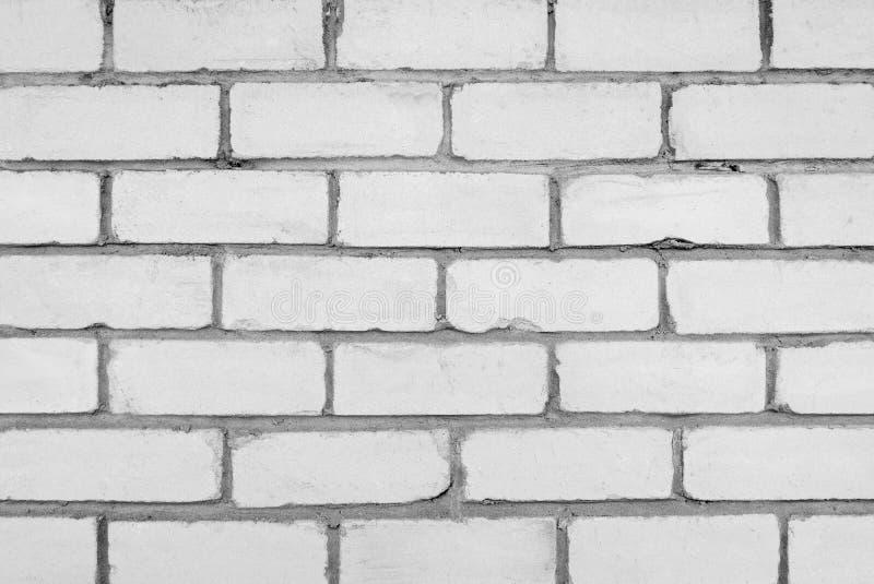 Τοίχος του άσπρου τούβλου στοκ εικόνες