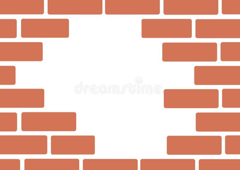 Τοίχος του διανύσματος τέχνης υποβάθρου τούβλων απεικόνιση αποθεμάτων
