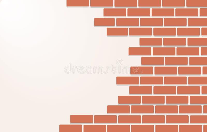 Τοίχος του διανύσματος τέχνης υποβάθρου τούβλων ελεύθερη απεικόνιση δικαιώματος