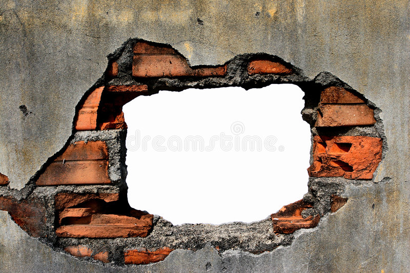 τοίχος τρυπών στοκ φωτογραφίες