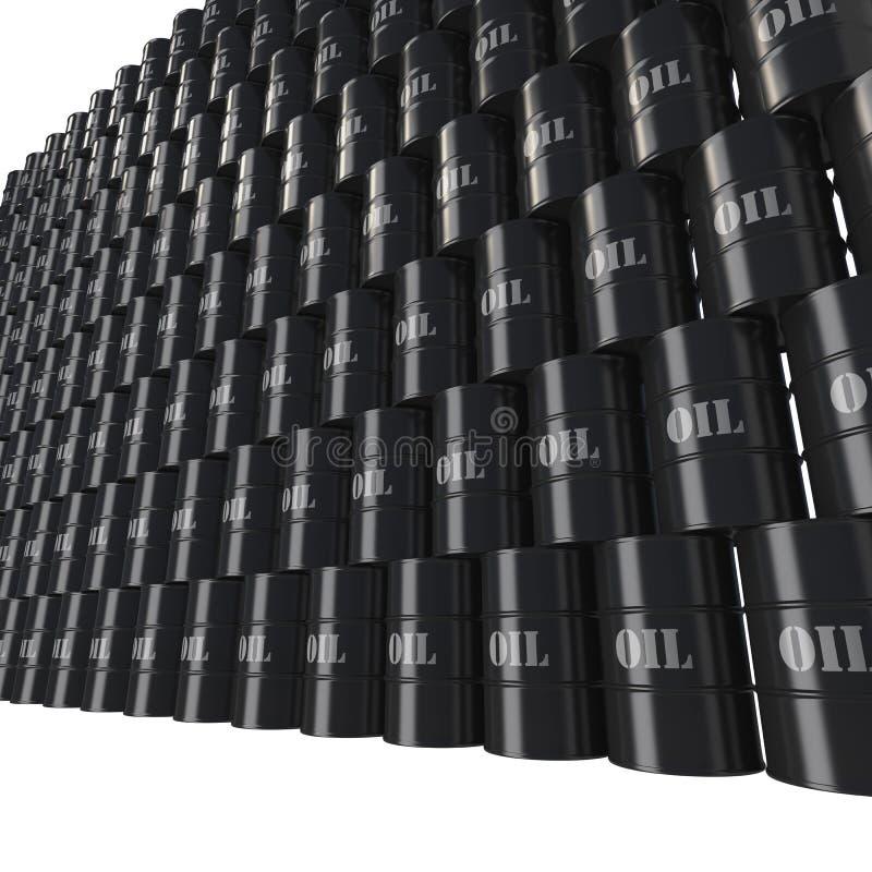 Τοίχος των βαρελιών πετρελαίου κατά την άποψη προοπτικής διανυσματική απεικόνιση
