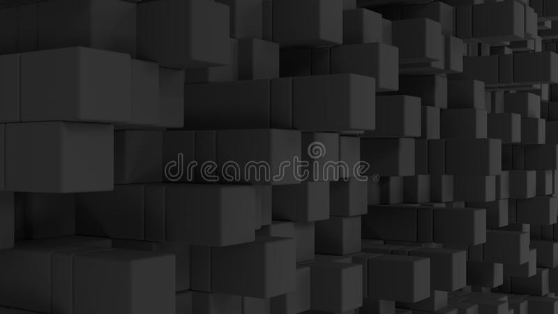 Τοίχος των γκρίζων κύβων διανυσματική απεικόνιση