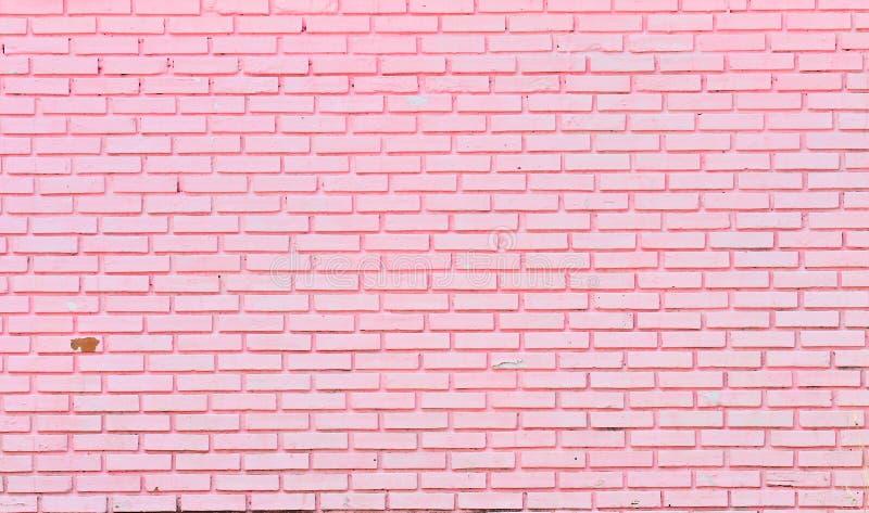 Τοίχος των ρόδινων τούβλων στοκ εικόνες