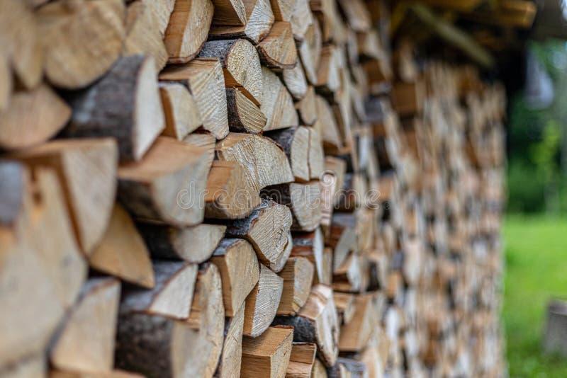 Τοίχος των firewoods στοκ φωτογραφία με δικαίωμα ελεύθερης χρήσης