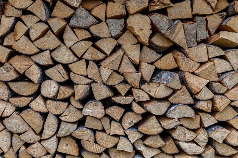 Τοίχος των firewoods στοκ φωτογραφίες με δικαίωμα ελεύθερης χρήσης