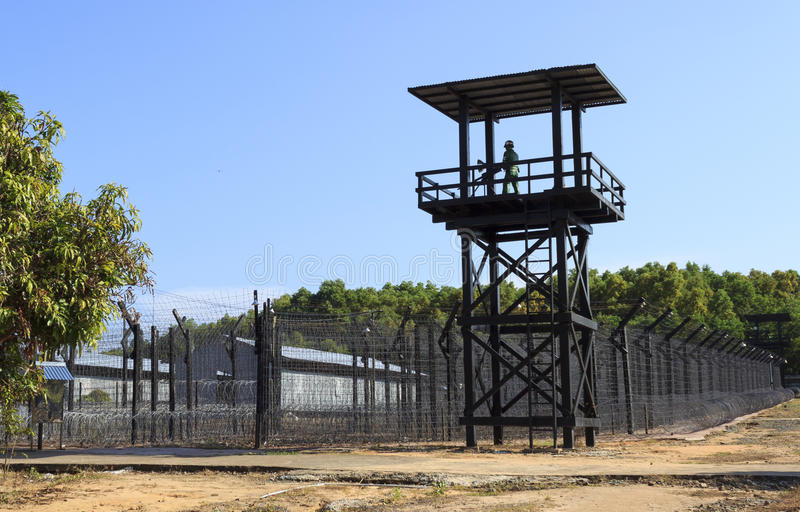 Τοίχος φυλακών στοκ φωτογραφίες