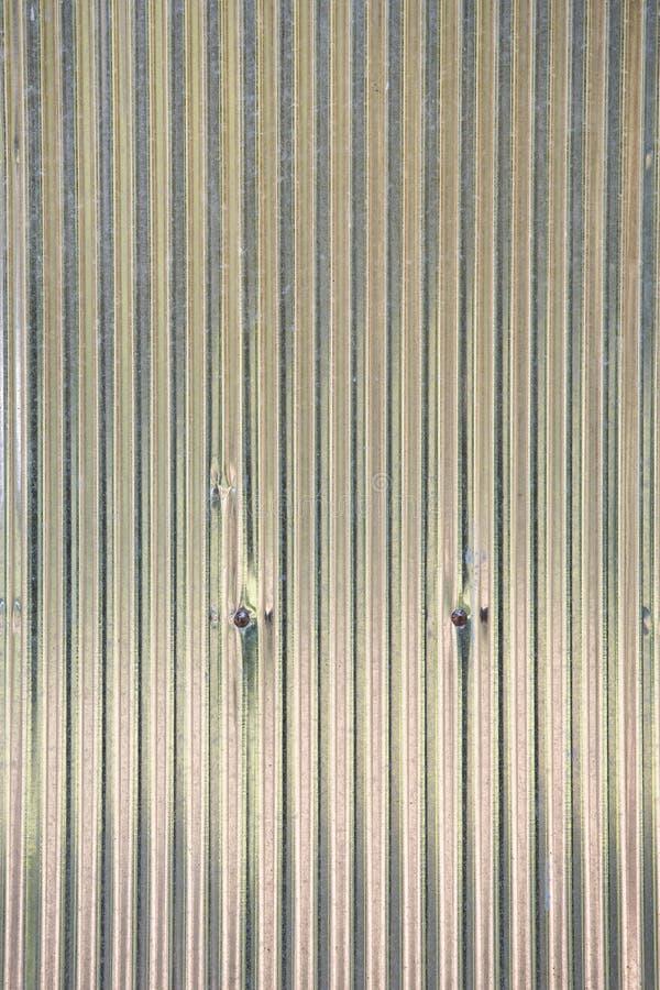 Τοίχος φύλλων ψευδάργυρου ή ζαρωμένα σύσταση και υπόβαθρο τοίχων στοκ εικόνες