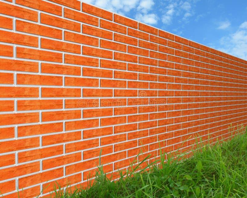 τοίχος χλόης τούβλου διανυσματική απεικόνιση