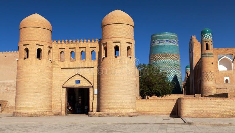 Τοίχος Itchan Kala - Khiva - του Ουζμπεκιστάν στοκ εικόνα με δικαίωμα ελεύθερης χρήσης