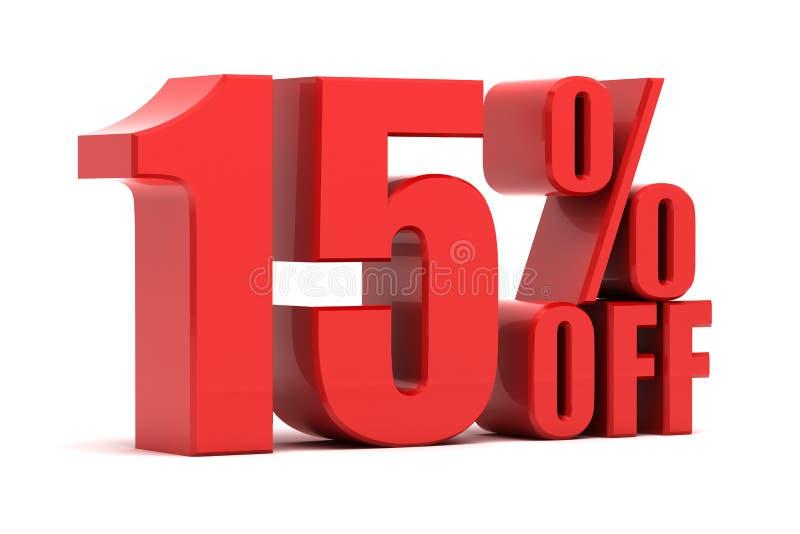15 τοις εκατό από την προώθηση ελεύθερη απεικόνιση δικαιώματος