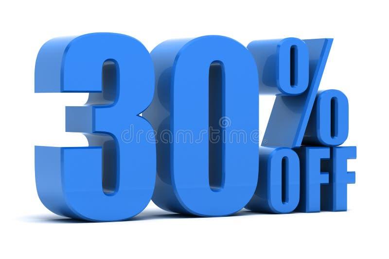 30 τοις εκατό μακριά ελεύθερη απεικόνιση δικαιώματος