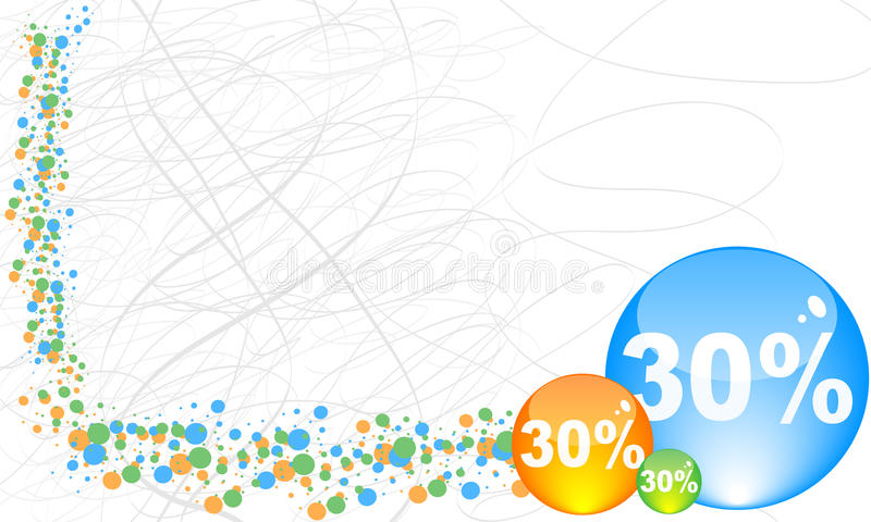τοις εκατό τριάντα έκπτωση& διανυσματική απεικόνιση