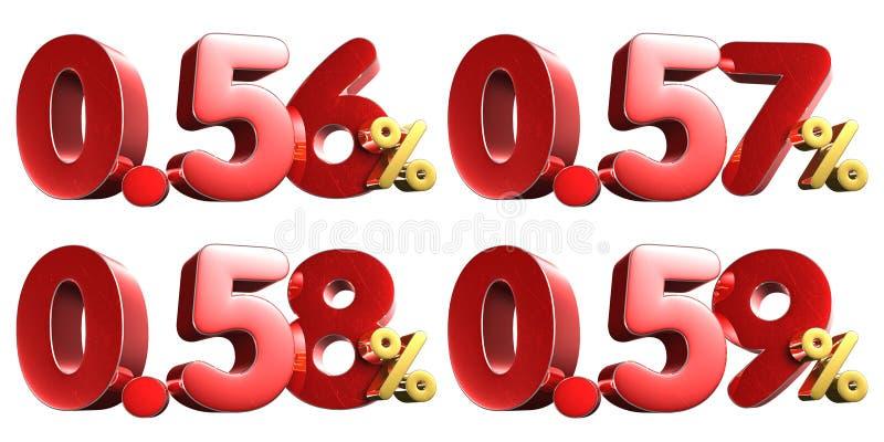 56-0 59 τοις εκατό τρισδιάστατος E ελεύθερη απεικόνιση δικαιώματος