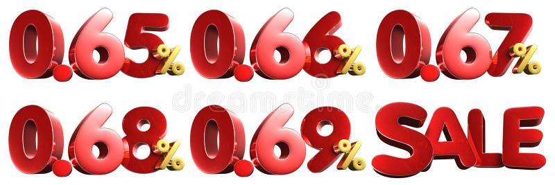 65-0 69 τοις εκατό τρισδιάστατος E ελεύθερη απεικόνιση δικαιώματος