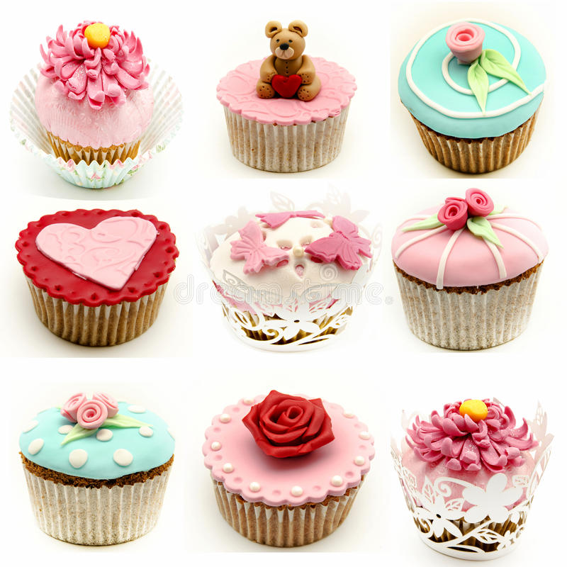 Τοιχογραφία διάφορων cupcakes στοκ εικόνα με δικαίωμα ελεύθερης χρήσης