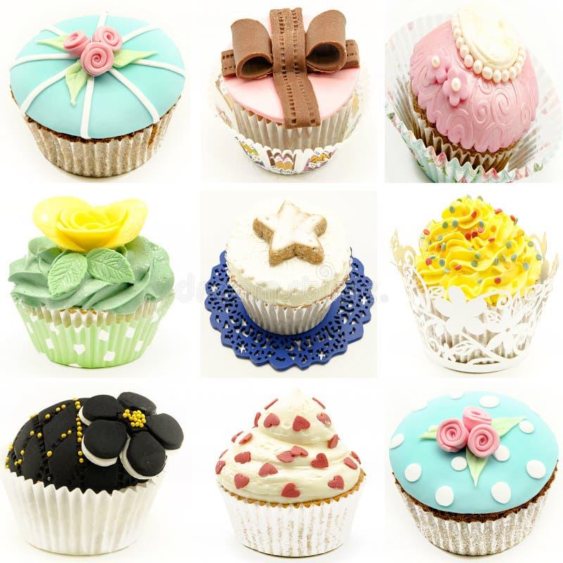Τοιχογραφία διάφορων cupcakes στοκ εικόνα