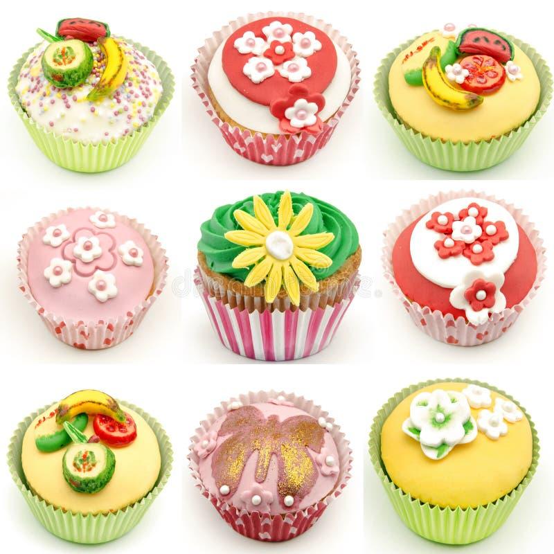 Τοιχογραφία διάφορων cupcakes στοκ φωτογραφίες με δικαίωμα ελεύθερης χρήσης