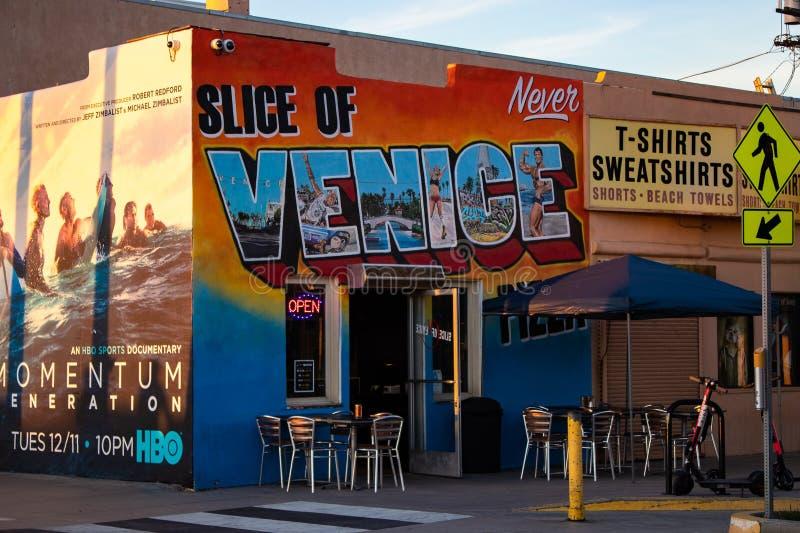 Τοιχογραφία στο κατάστημα στην παραλία της Βενετίας, Καλιφόρνια στοκ εικόνες