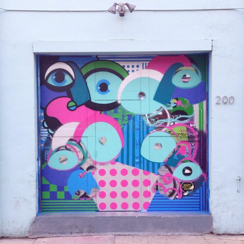 Τοιχογραφία τέχνης οδών γκράφιτι παραλιών της Βενετίας στοκ φωτογραφία