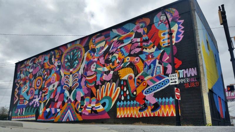 Τοιχογραφία της Ατλάντας Summerhill στοκ εικόνα με δικαίωμα ελεύθερης χρήσης