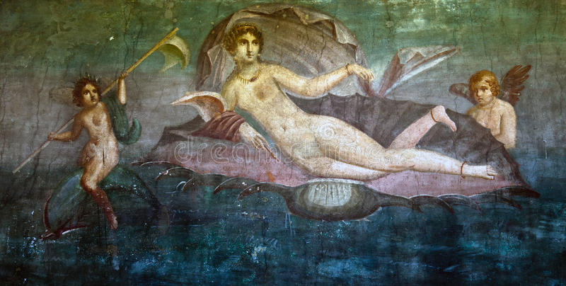 Τοιχογραφία της Αφροδίτης στοκ εικόνες