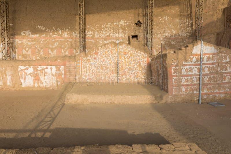 Τοιχογραφία της πυραμίδας μύθων του φεγγαριού Περού στοκ φωτογραφία με δικαίωμα ελεύθερης χρήσης