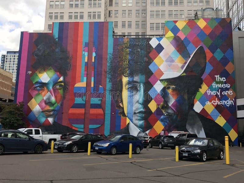 Τοιχογραφία του Μπομπ Ντύλαν στοκ εικόνες