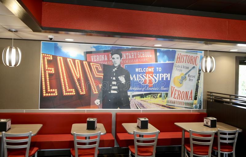 Τοιχογραφία του Elvis Presley στοκ φωτογραφίες