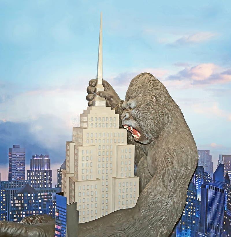 Τοιχογραφία του King Kong στοκ φωτογραφίες με δικαίωμα ελεύθερης χρήσης