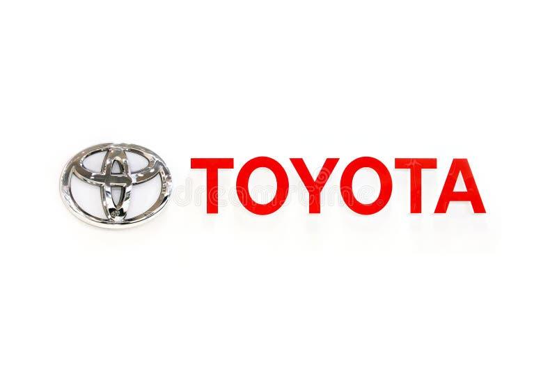ΤΟΚΙΟ, ΙΑΠΩΝΙΑ - ΤΟΝ ΙΟΎΛΙΟ ΤΟΥ 2017: Αυτοκίνητα λογότυπων της TOYOTA vechicles στοκ εικόνα