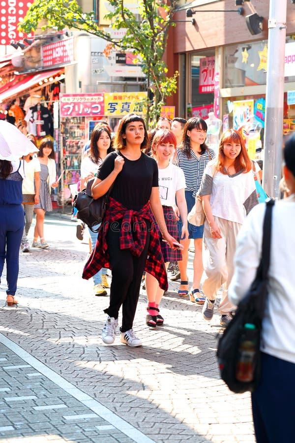 ΤΟΚΙΟ, ΙΑΠΩΝΙΑ: Takeshita StreetTakeshita Dori στοκ εικόνα με δικαίωμα ελεύθερης χρήσης