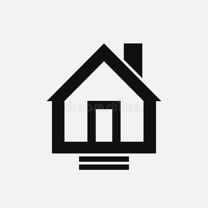 Τολμηρό διανυσματικό εικονίδιο ακίνητων περιουσιών σπιτιών ελεύθερη απεικόνιση δικαιώματος