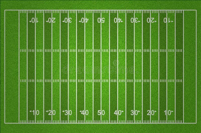 Τομέας αμερικανικού ποδοσφαίρου με τις σκοτεινές και ελαφριές γραμμές χλόης διανυσματική απεικόνιση
