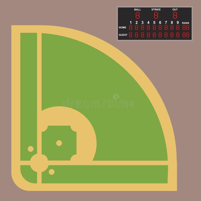 Τομέας μπέιζ-μπώλ κινούμενων σχεδίων που κτυπά το διανυσματικό εξοπλισμό αθλητικής ένωσης αθλητών παιχνιδιών σχεδίου αμερικανικό ελεύθερη απεικόνιση δικαιώματος