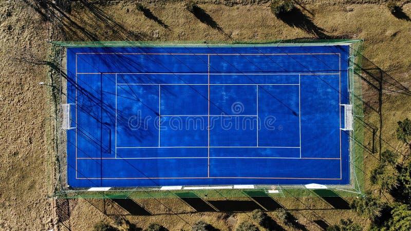 Τομέας ποδοσφαίρου και αντισφαίρισης, άνωθεν στοκ φωτογραφίες