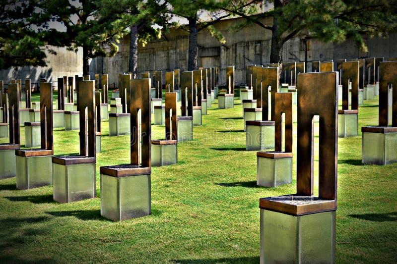Τομέας των κενών εδρών, μνημείο Πόλεων της Οκλαχόμα, Πόλη της Οκλαχόμα στοκ φωτογραφία με δικαίωμα ελεύθερης χρήσης