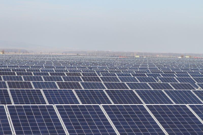 Τομέας των πράσινων ενεργειακών φωτοβολταϊκών ηλιακών πλαισίων στοκ εικόνα