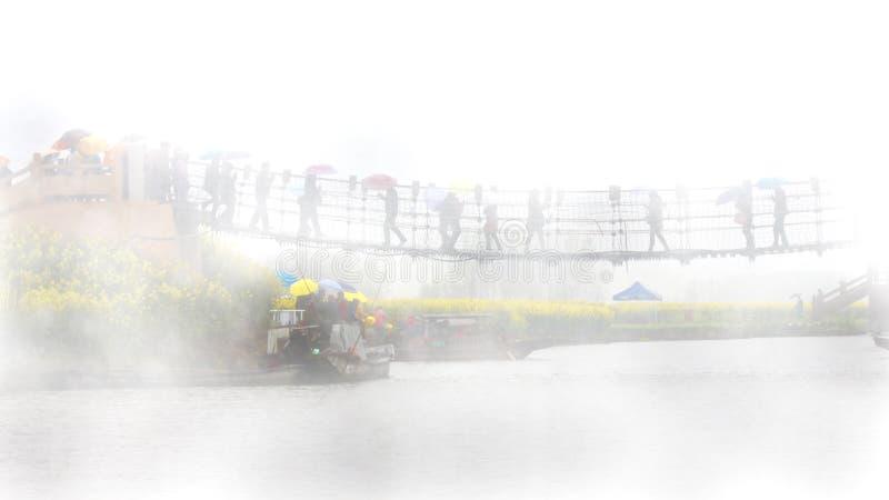 Τομέας Qiandao, περίοδος βροχών, Κίνα στοκ εικόνες με δικαίωμα ελεύθερης χρήσης