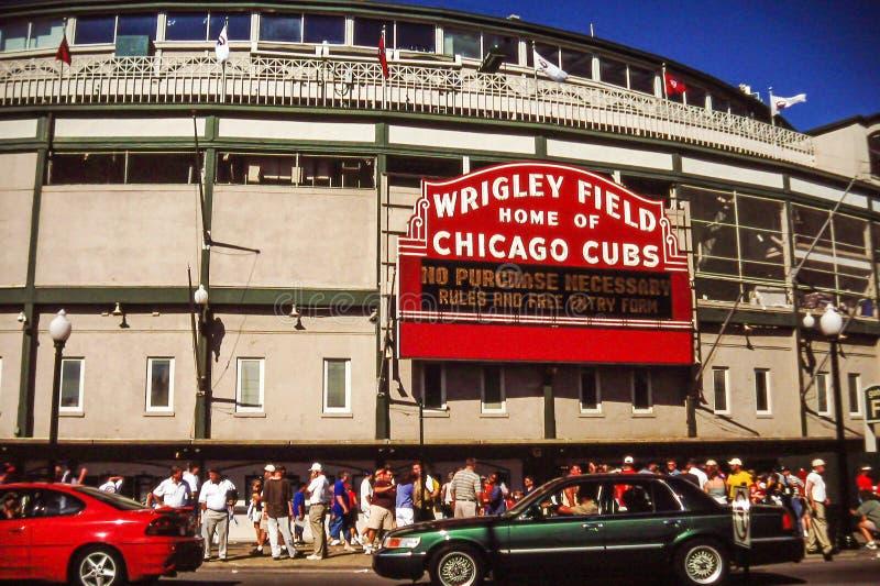 Τομέας Wrigley, Σικάγο, IL στοκ φωτογραφία με δικαίωμα ελεύθερης χρήσης