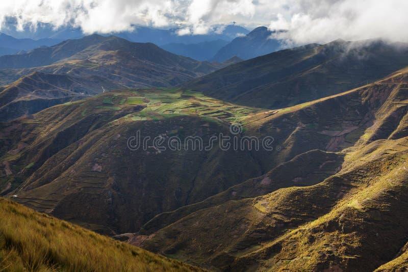 Τομείς στο Περού στοκ φωτογραφία