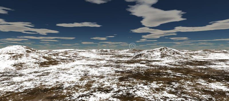 Τομείς χιονιού με δύο λόφους πρωινός ελεύθερη απεικόνιση δικαιώματος