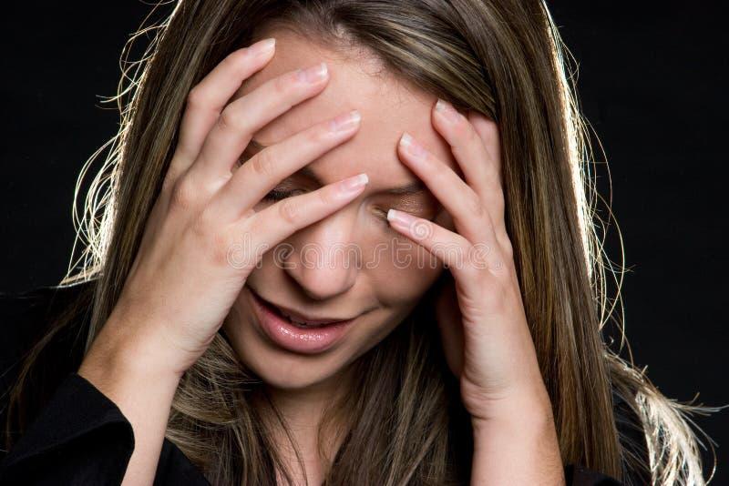 τονισμένη γυναίκα στοκ εικόνα με δικαίωμα ελεύθερης χρήσης