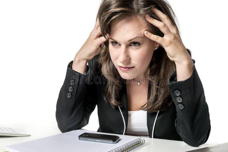 Τονισμένη επιχειρησιακή γυναίκα στοκ φωτογραφία